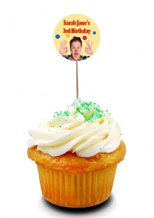 Mr Tumble Cupcake Picks/Toppers